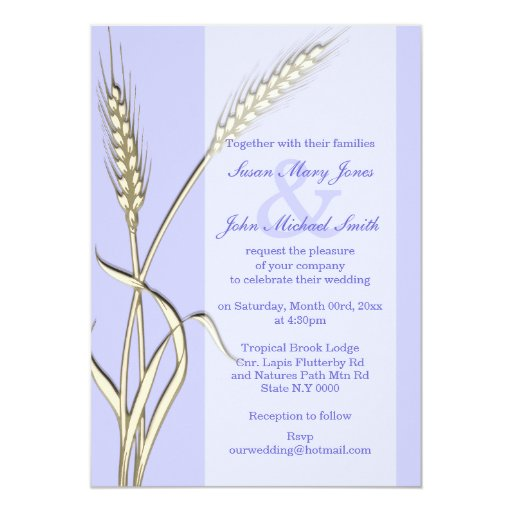 Lavender cream wedding engagement anniversary 5x7 paper invitation card