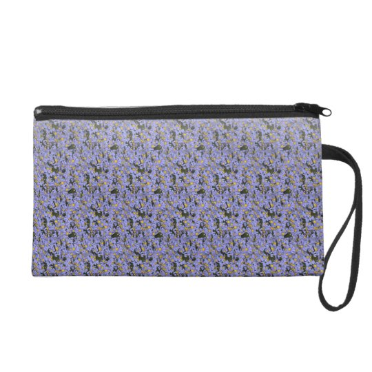 Lavender Crochet Stitched Design Purse Bag Clutch