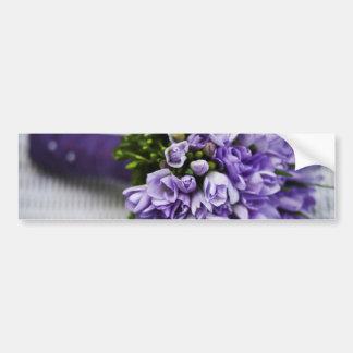 Lavender Crocus Bridal Bouquet Bumper Sticker