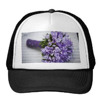 Lavender Crocus Bridal Bouquet Hat