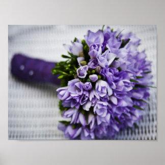 Lavender Crocus Bridal Bouquet Poster