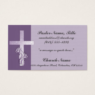Lavender Cross Church Minister Business Card