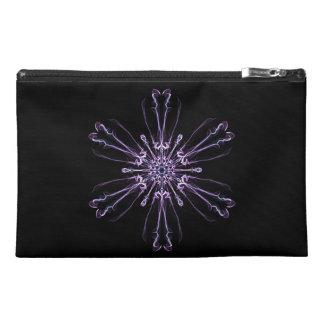 "Lavender Crystal 9"" x 6"" Travel Accessory Bag"