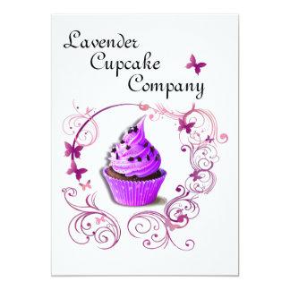 Lavender Cupcake Company 5x7 Announcement
