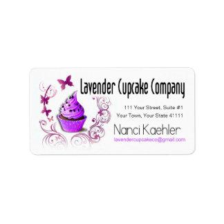 Lavender Cupcake Company Avery Label