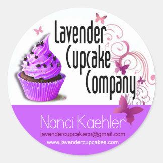 Lavender Cupcake Company Custom Classic Round Sticker
