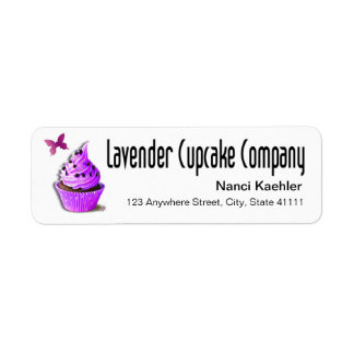 Lavender Cupcake Company Custom Return Address Labels