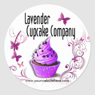 Lavender Cupcake Company Stickers (customized)
