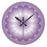 Lavender Cushion Flower Wall Clock