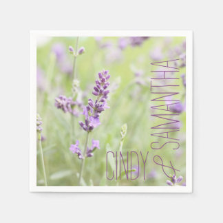 Lavender Custom Paper Napkin
