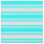 [ Thumbnail: Lavender & Cyan Striped/Lined Pattern Fabric ]