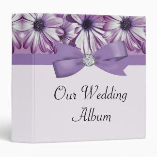 Lavender Daisies Bow & Ribbon Wedding Binder
