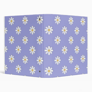 Lavender Daisies School Notebook Binder