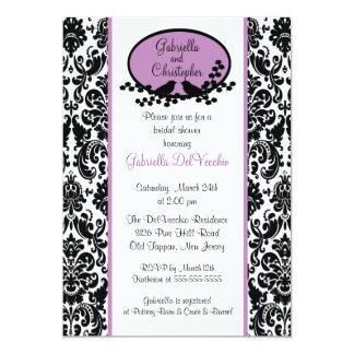 Lavender Damask Bridal Shower Invitation