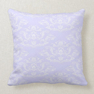 Lavender Damask Pillow / Large Pillow