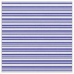 [ Thumbnail: Lavender & Dark Blue Colored Stripes Fabric ]