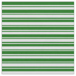 [ Thumbnail: Lavender & Dark Green Colored Lines Fabric ]