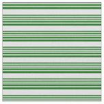 [ Thumbnail: Lavender & Dark Green Lines Pattern Fabric ]