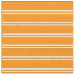 [ Thumbnail: Lavender & Dark Orange Colored Pattern Fabric ]