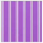 [ Thumbnail: Lavender & Dark Orchid Colored Pattern Fabric ]
