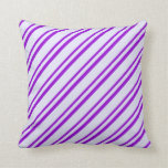 [ Thumbnail: Lavender & Dark Violet Colored Pattern Pillow ]