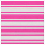 [ Thumbnail: Lavender & Deep Pink Lined Pattern Fabric ]