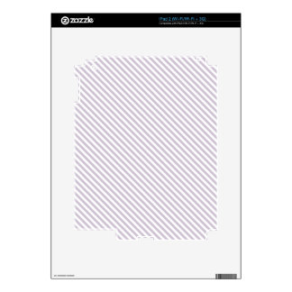 Lavender Diagonal Lines Skin For The iPad 2