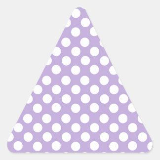 Lavender Dotty Polka Dots Triangle Sticker