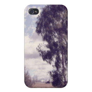 Lavender Dusk, Rural Nature Cover For iPhone 4