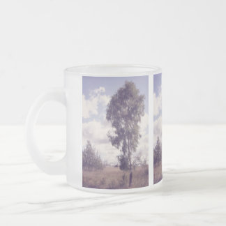 Lavender Dusk, Rural Nature Frosted Glass Coffee Mug