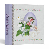 Lavender Egg and White Bunny Binder
