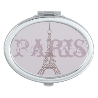 Lavender Eiffel Tower Compact Compact Mirror