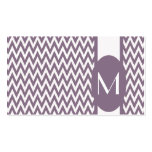 Lavender Elegant Chevron Monogram Business Card