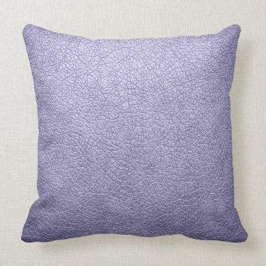 Lavender Elegant Leather Look Throw Pillows