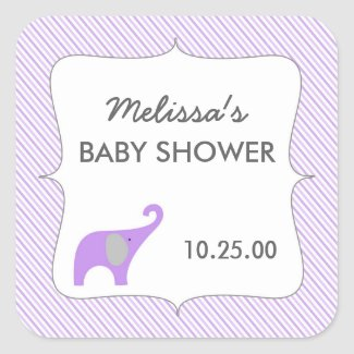 Lavender elephant girl baby shower favor idea