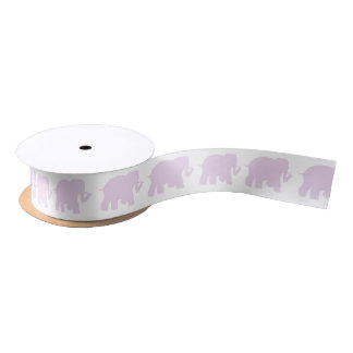Lavender elephants ribbon