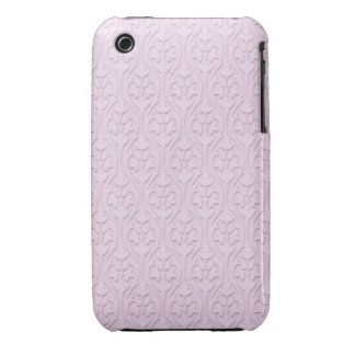 Lavender Embossed Damask iPhone 3 Cover