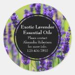 Lavender Essential Oil Business Bottle Label