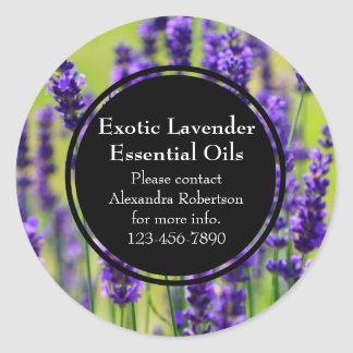 Lavender Essential Oil Business Bottle Label Classic Round Sticker
