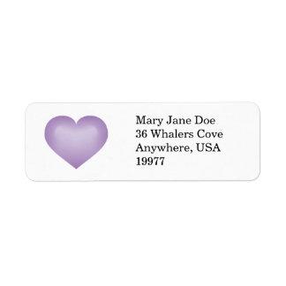 Lavender fade heart label