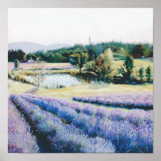 Lavender Farm - a Closer View Poster