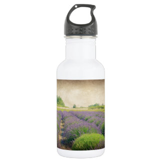 Lavender Farm - Distressed Water Bottle