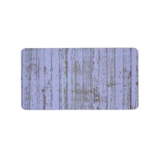 Lavender Faux Wood Texture Address Label