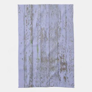 Lavender Faux Wood Texture Kitchen Towel