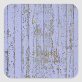 Lavender Faux Wood Texture Square Sticker