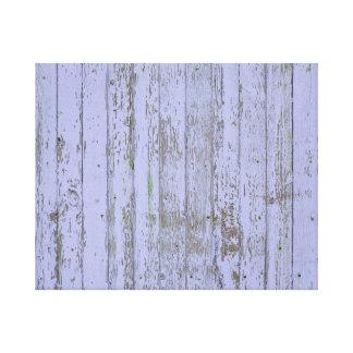 Lavender Faux Wood Texture Stretched Canvas Print
