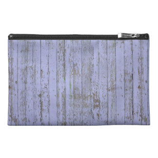Lavender Faux Wood Texture Travel Accessory Bag
