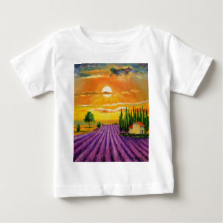 Lavender field at sunset baby T-Shirt
