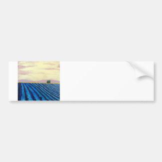 Lavender Field ( French Landscape ) K.Turnbull Art Bumper Sticker