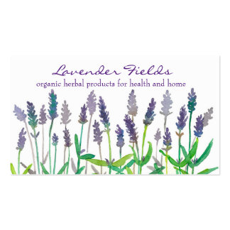 Lavender Field Herb Watercolor Flowers Business Card